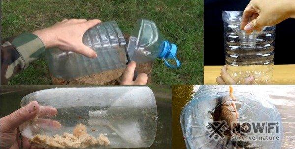 как поймать рыбу пластиковой бутылкой