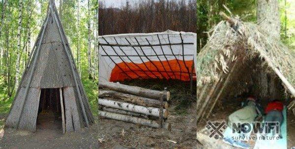 какие бывают конструкции шалаша