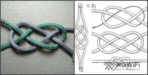 схема вязания плоского морского узла