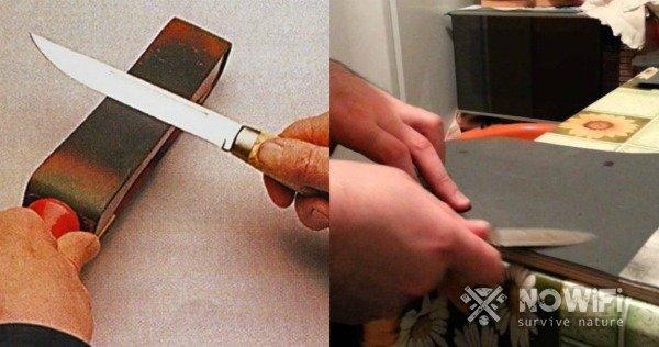как убрать заусенцы на лезвии ножа