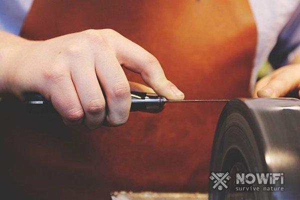 Как заточить нож на точильном станке