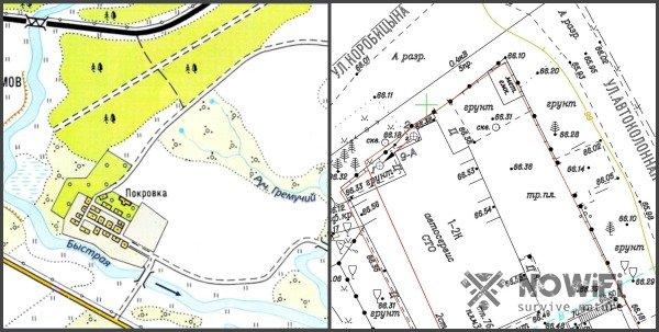 условные обозначения на топографической карте