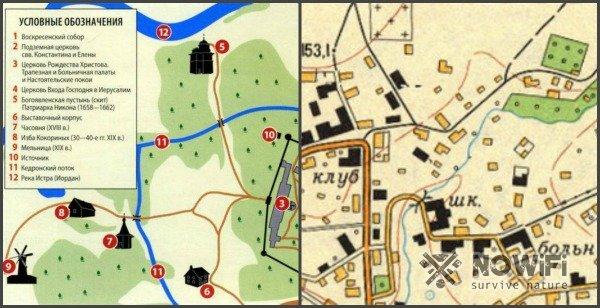знаки социо-культурные объекты карт