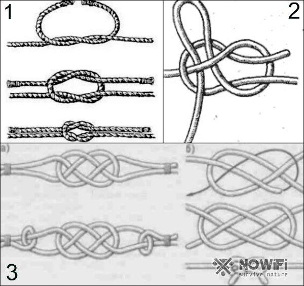ткацкий узел как завязать и его схемы с картинками
