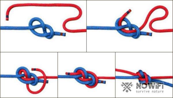 Как вязать встречный узел