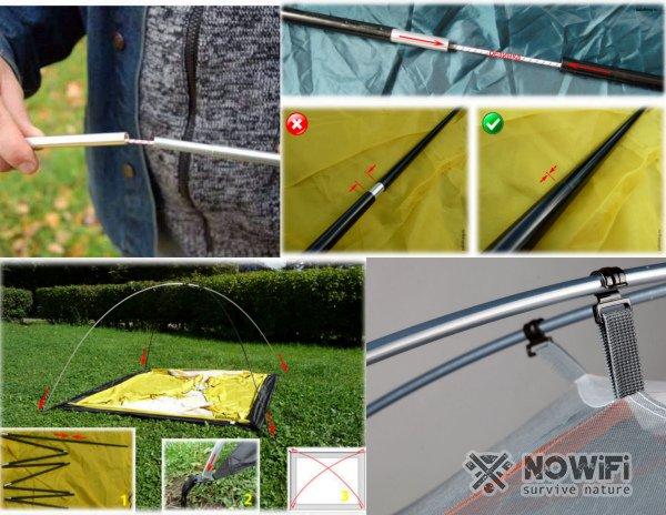 Как собрать дуги палатки