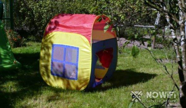Как сложить детскую палатку