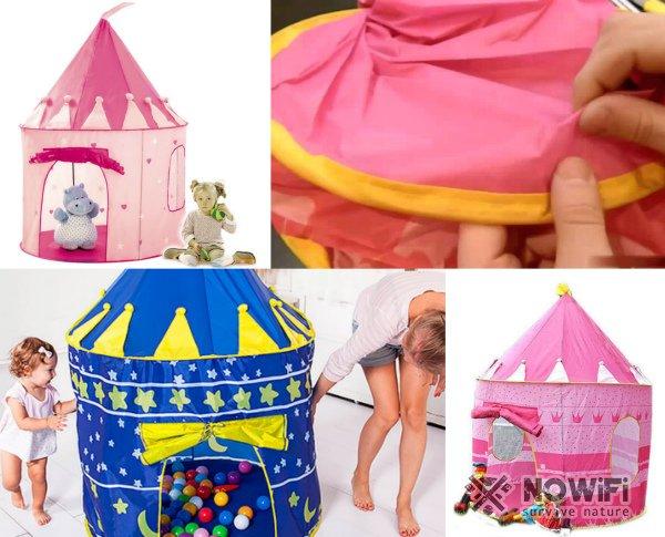 Как собрать детскую палатку замок