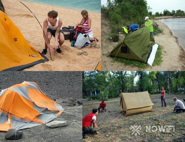 Как установить палатку за 5 минут
