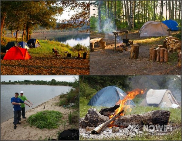 Как выбрать место под палатку