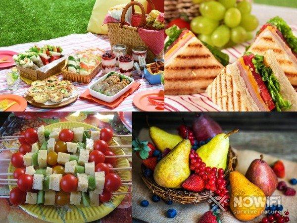 Еда для детей на пикнике