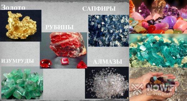 Драгоценные полезные ископаемые